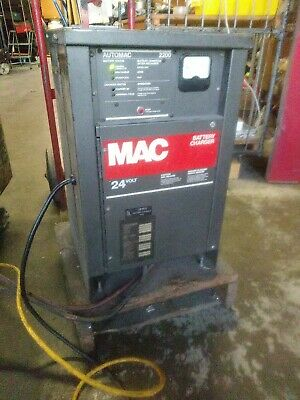 $275 • Buy Mac Automac 2200 Forklift Battery Charger 24v 1ph Works!