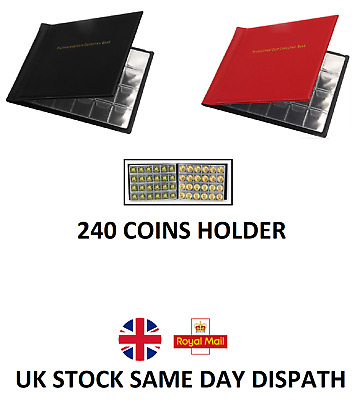 £3.97 • Buy 240 Coin Collection Holders Storage Collecting Money Penny Pockets Album Book