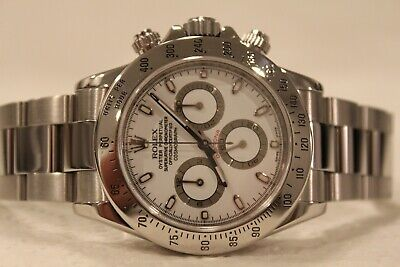 $ CDN24942.29 • Buy Rolex 116520 Daytona Chronograph White Engraved Rehaut 40mm Watch Discontinued!!
