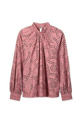 AU49 • Buy COUNTRY ROAD BRODERIE TOP BLOUSE In Dusty Rose RRP$159