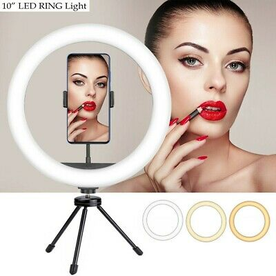 AU9.99 • Buy AU 10  LED Selfie Ring Light With Cell Phone Holder For Live Stream And Makeup