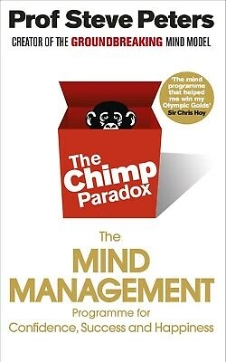 The Chimp Paradox The Mind Management..by Dr Steve Peters~Paperback~New~2012 • 10.99£