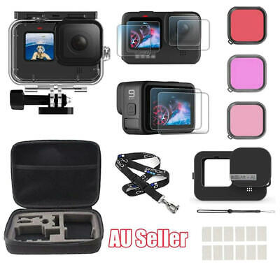 AU49.88 • Buy Accessories Kit For GoPro Hero 9 Black Waterproof Housing  Case Filter Carrying
