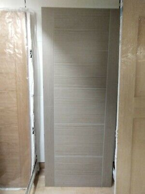 Pre Finished Laminated Light Grey Vancouver Internal Interior Wooden Panel Door • 68£