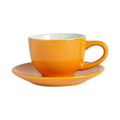 £6.49 • Buy Espresso Cup & Saucer Set Porcelain Coffee Cafe Macchiato Cups 90ml Yellow