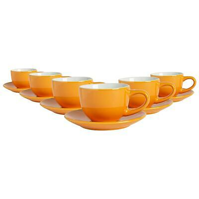 £13.49 • Buy 12 Piece Espresso Cup & Saucer Set Porcelain Coffee Cafe Cups 90ml Yellow