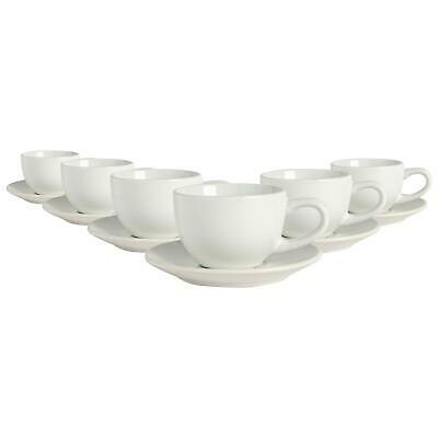 £15.49 • Buy 12 Piece Espresso Cup & Saucer Set Porcelain Coffee Cafe Cups 90ml White