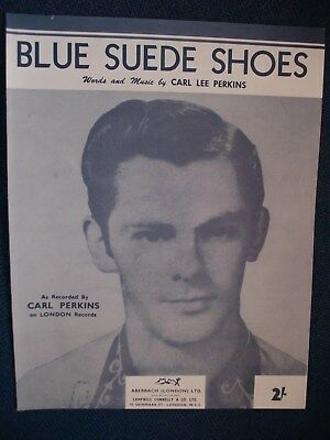 £2 • Buy CARL PERKINS/CHARLIE FEATHERS -  Blue Suede Shoes  Repro  Sheet Music