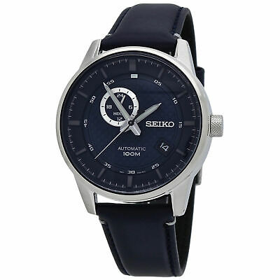 $ CDN283.67 • Buy Seiko Automatic Men's Blue Dial Leather Strap Watch SSA391