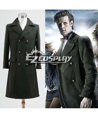 New Doctor Who Dr. Dark Green Long Coat Cosplay Costume F.01 • 45£