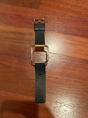 $ CDN4.84 • Buy Fitbit Blaze Band Small; Black Band With Gold Frame- Used