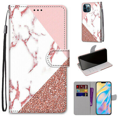 AU7.96 • Buy Splicing Marble Fashion 3D Popular Flip Wallet Case Back Cover For Various Phone