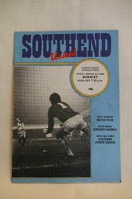 1983 1984 Southend United V Burnley Canon League Division 3  • 2.99£
