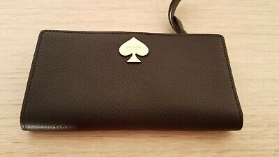 $ CDN56.82 • Buy Black Pebble Leather Kate Spade Bi-fold Wallet, NWOT