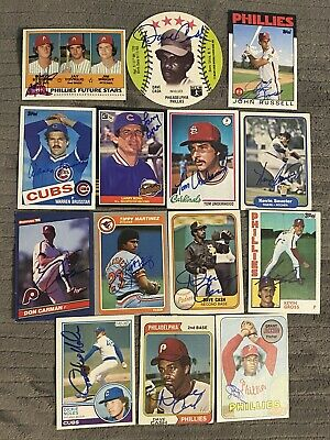 $ CDN57.18 • Buy Lot Of 14 Philadelphia Phillies Related Signed Baseball Cards Auto Topps