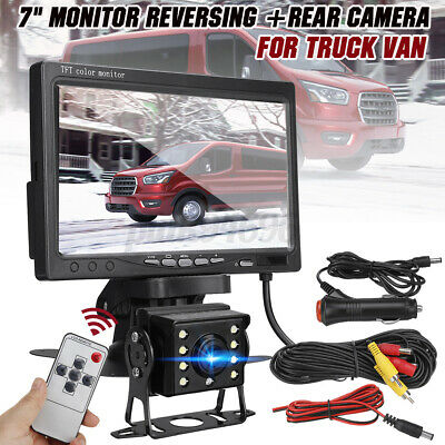 AU53.99 • Buy 7  LCD Monitor For Truck VAN Bus Reverse Rear View Backup Camera AUTO Parking AU