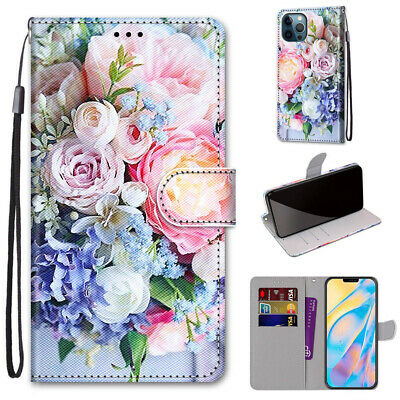AU7.96 • Buy Fashion Fresh Flower Flip Hot New 3D Painted Wallet Case Cover For Various Phone