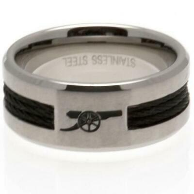 £24.99 • Buy Official ARSENAL FC Stainless Steel Black Inlay RING Gunners Gift