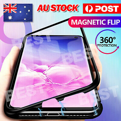 AU9.95 • Buy Case For Samsung Galaxy Note 9+ S9 S8 Plus Magnetic Glass Protection Cover