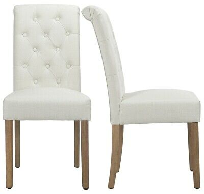 AU110 • Buy 2pcs Fabric Upholstered Dining Chairs High Back Padded Dining Home Restaurants