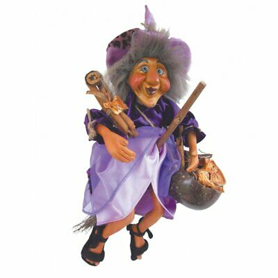 Witches Of Pendle Demdike - 32cm -  Witch Doll Flying Collectible Wicca New • 24.95£