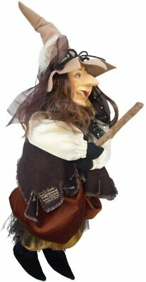 Witches Of Pendle - Tizzy Witch Flying (Brown) 35cm  • 24.90£