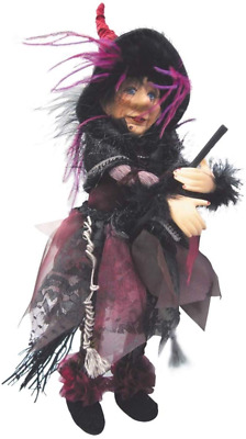 Witches Of Pendle - Sabrina Witch Flying (Burgundy) 30cm • 19.95£