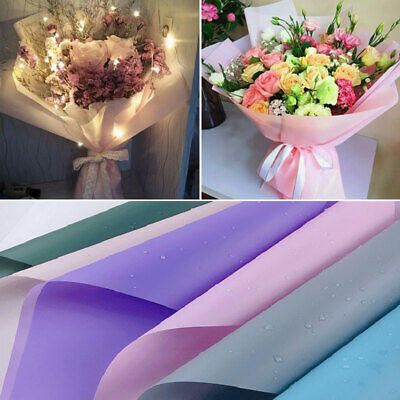 £7.61 • Buy 20x Translucent Waterproof Paper Flower Bouquet Wrapping DIY Craft Gift Packing