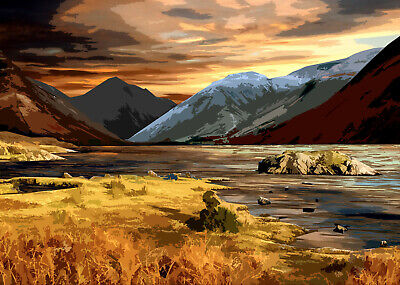 Wast Water Lake District Limited Edition Print By Sarah Jane Holt • 15£