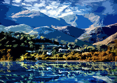 Coniston Water Lake District Limited Art Print By Sarah Jane Holt Large Version • 25£
