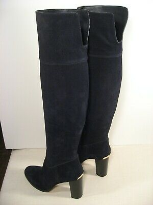 £165.53 • Buy MICHAEL KORS Black Suede Leather Over-the-Knee High Heel Riding Boots - Size 12