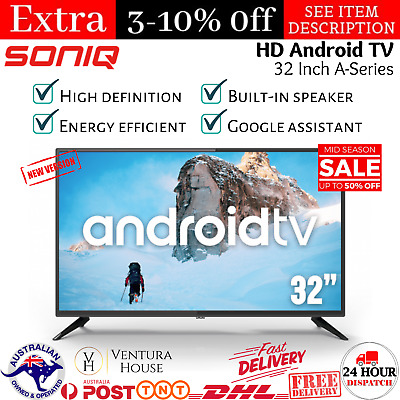 AU289.02 • Buy SONIQ Smart TV 32 Inch Android Television WiFi A-Series Netflix Google Assist