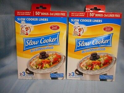 $ CDN12.66 • Buy Crock Pot Slow Cooker Liners Fits 3-6.5 Qt Round Or Oval 6 Liners