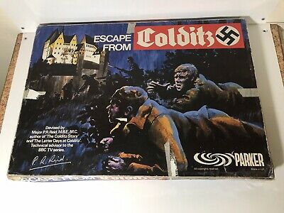 Escape From Colditz Board Game 1973 Parker **NOT COMPLETE** • 35£