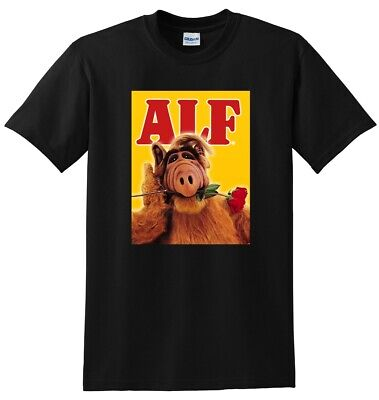 ALF T SHIRT Tv Show Season 1 2 3 4 5 Bluray Dvd Cover SMALL MEDIUM LARGE Or XL • 15.91£