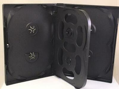 AU11.95 • Buy 1  Hold 6 22mm Standard Quality DVD Cover Disc Case With Outer Wrap Insert BLACK