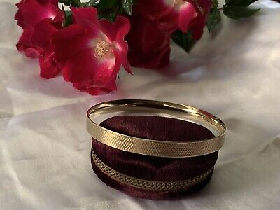 AU175 • Buy 9ct YELLOW GOLD MC SLIP ON ART DECO BANGLE 67CM EX CDN 21.4 GRAMS LAGARMIC~ UK💫
