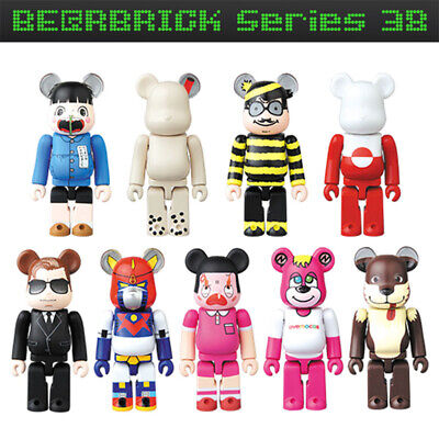 $29.95 • Buy Bearbrick Be@rbrick 38 9P Set 9pcs SF Cute Pattern Artist JellyBean Animal Hero