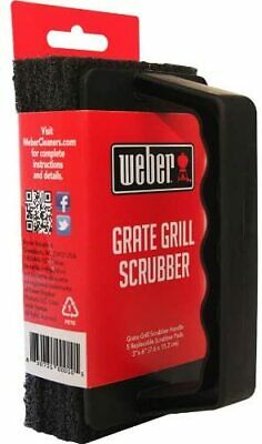 $ CDN19.02 • Buy Weber Heavy Duty Grate BBQ Grill Scrubber 3 Replaceable Pads 3 X6  With Handle