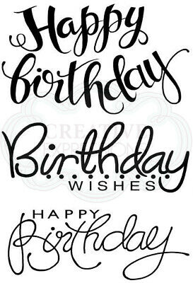Woodware Clear Stamp Set - Big Birthday Words By Jane Gill  JGS630 • 6.50£