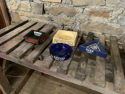 Collection Of Vintage Pub Ash Trays • 35£
