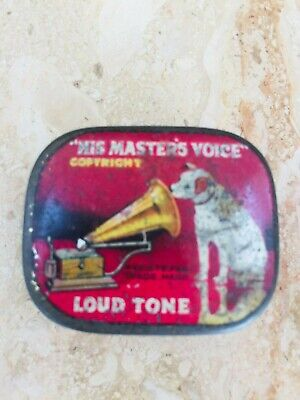 Old His Master's Voice Nipper Hmv Jack Russell Gramophone Stylus Metal Box • 9.99£