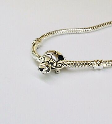 £12.29 • Buy Bright Eyed Turtle Sterling Silver Bracelet Charm S925 Moment