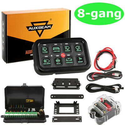 AU147.38 • Buy 8 Gang LED Switch Panel On-Off Control Relay System AUXBEAM Boat RV Marine Truck