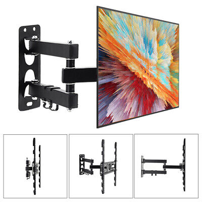 TV LCD Monitor Wall Mount Articulating Bracket 26-55 Telescopic Adjustable Stand • 16.74£