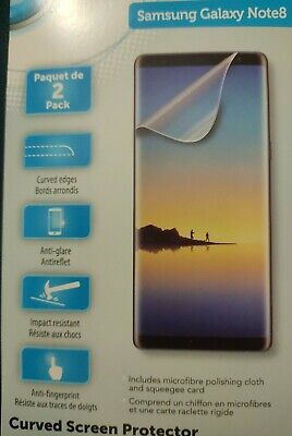 $ CDN8 • Buy For Samsung Galaxy Note 8 Curved Clear Screen Protector 2 Pack