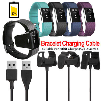 $ CDN2.45 • Buy Fitbit Charge 2/3/4 Clip Charger USB Charging Cable Smart Accessories Xiaomi 5