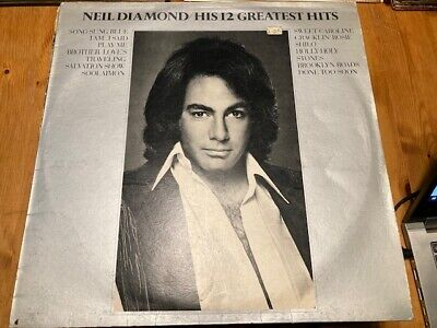 1974 Neil Diamond Lp - His 12 Greatest Hits  - Mca Records - Mcf 2550 • 4.59£