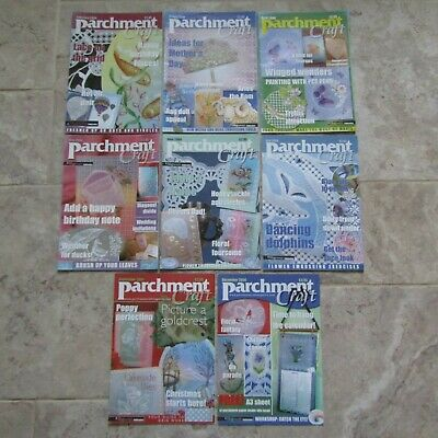 Parchment Craft Job Lot Back Copies 8 Magazines 2004 Lace Border Cards Embossing • 12£
