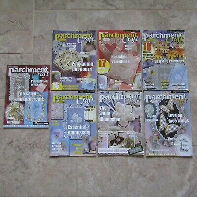 Parchment Craft Job Lot Back Copies 7 Magazines 2002-03 Richelieu Work Valentine • 11£
